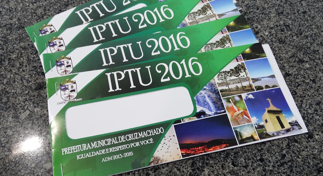 Carnês do IPTU já podem ser retirados em Cruz Machado