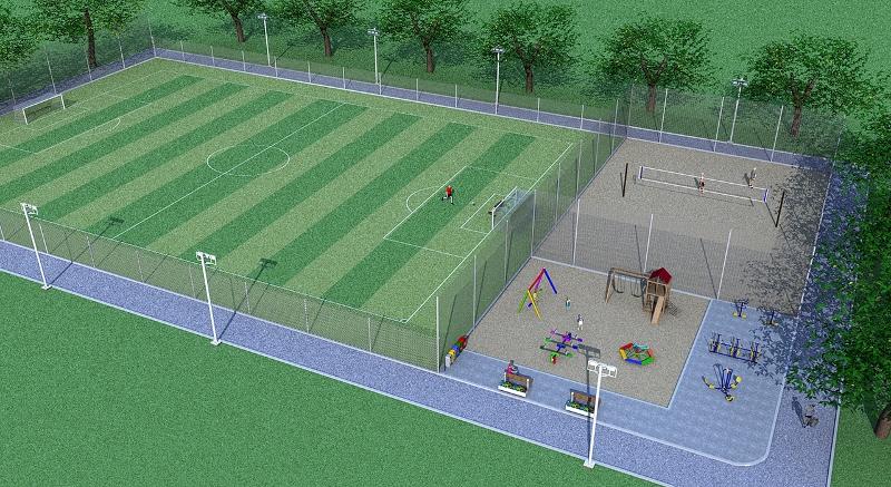 Parque esportivo é construído no distrito de Santana