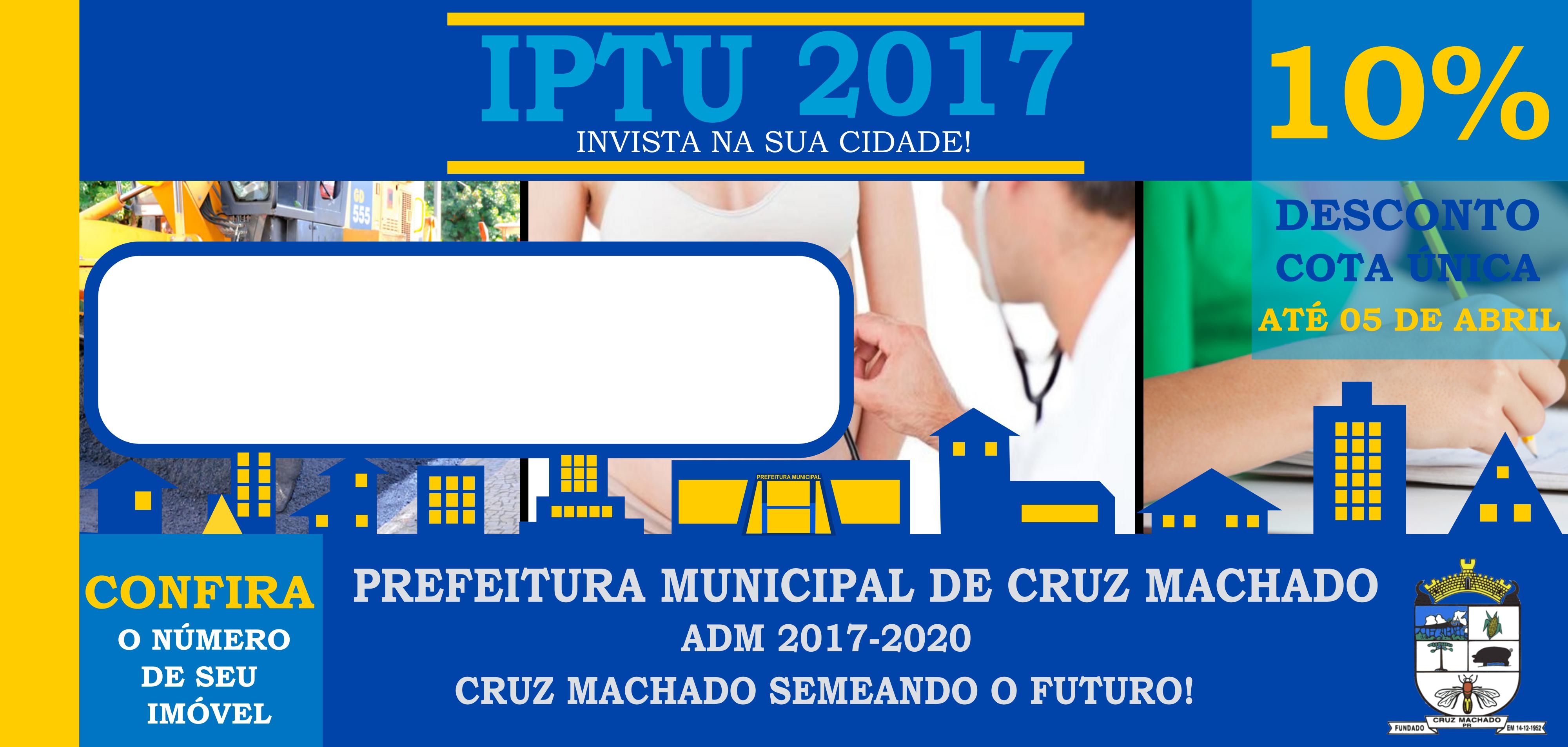 Contribuintes que quitarem o IPTU até 5 de abril terão desconto de 10%