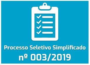 Processo Seletivo Simplificado - 003/2019